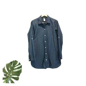 Tommy Bahama oversized chambray tunic top xl shirt
